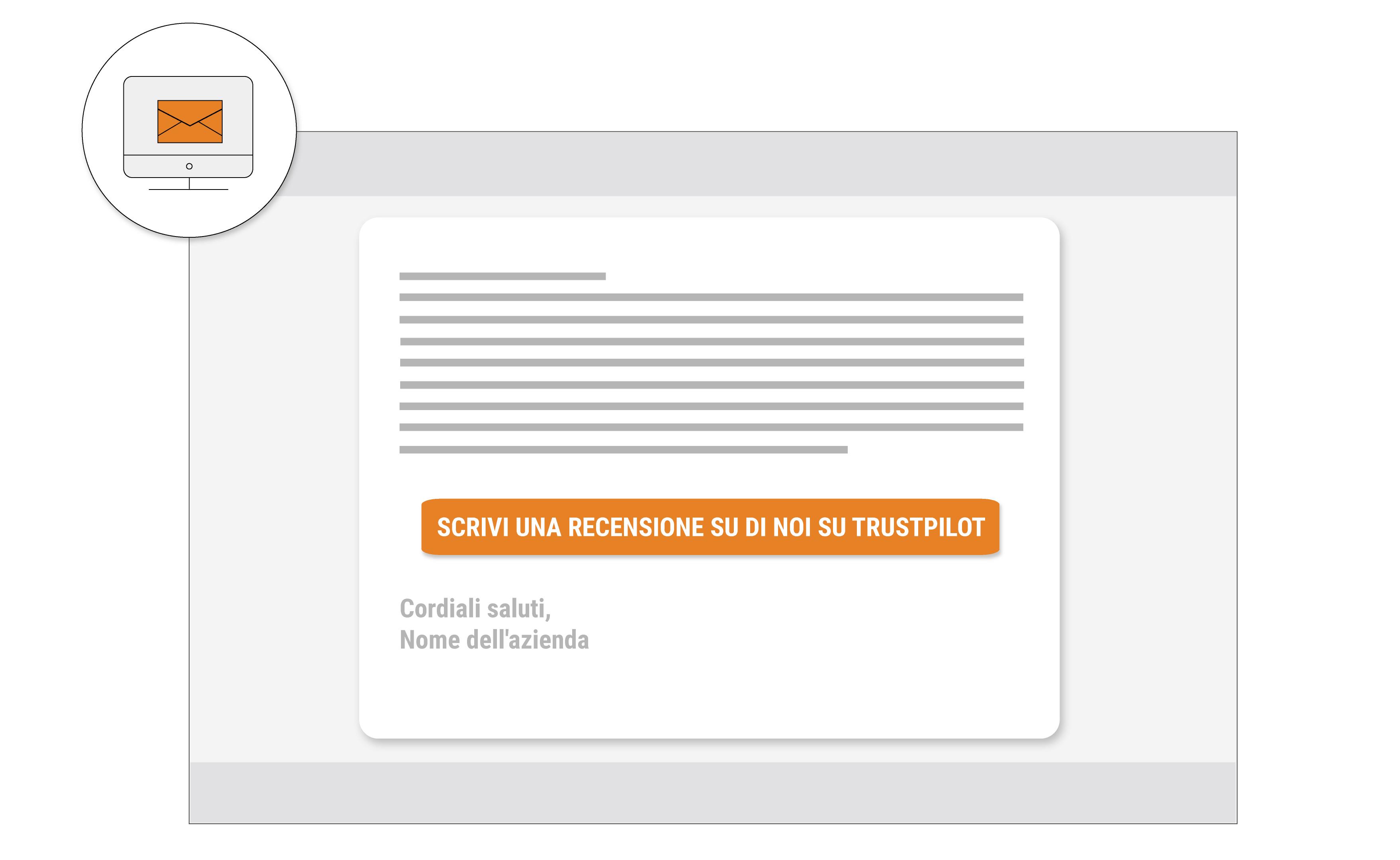Inserisci un link alla tua pagina di valutazione su Trustpilot in tutte le  tue email e invita gentilmente i clienti a lasciare una recensione. 34cbc07ad270
