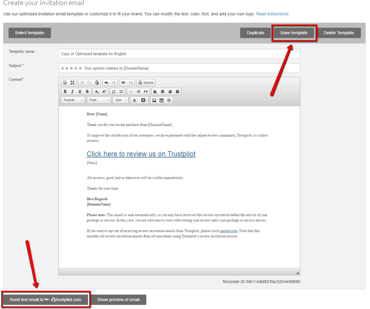 How to Create and Customize your review invitation email ...