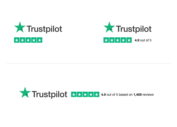 Hero your Trustpilot rating