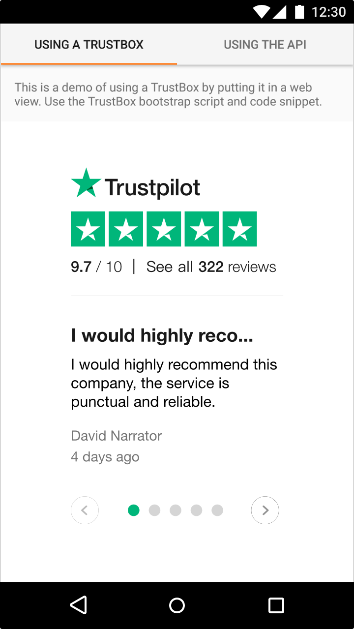 Add TrustBox widgets to your iOS or Android mobile app – Trustpilot