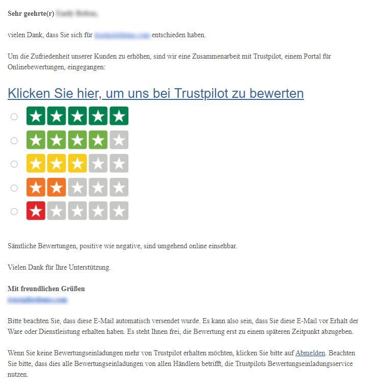 So erstellen und passen Sie Ihre Bewertungseinladung an – Trustpilot ...