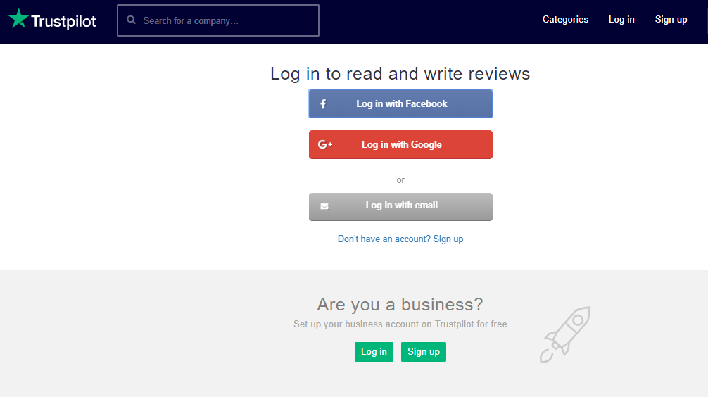 Create a user profile – Trustpilot Support Center