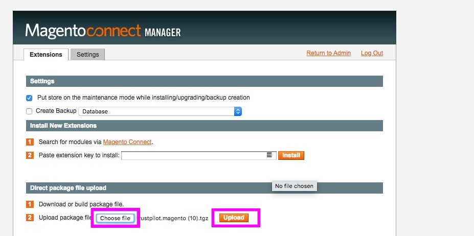 Trustpilot's free Magento 1 plugin - download, install and configure